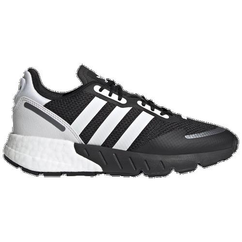 adidas Originals ZX 1K Boost - Boys' Grade School Running Shoes - Black / White / Black Silver