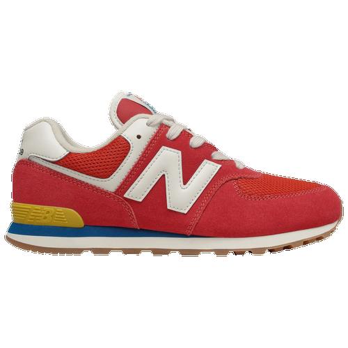 New Balance 574 Classic - Boys' Grade School Running Shoes - Team Red / Light Rogue Wave - GC574HA2-M