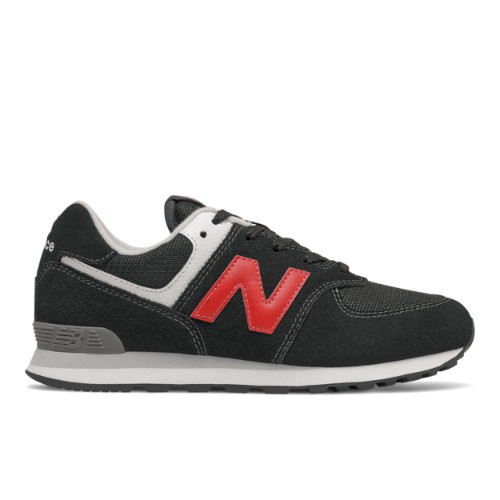 New Balance GradeBoys 574 - Black/Red - Size 4, Black/Red - GC574HY1