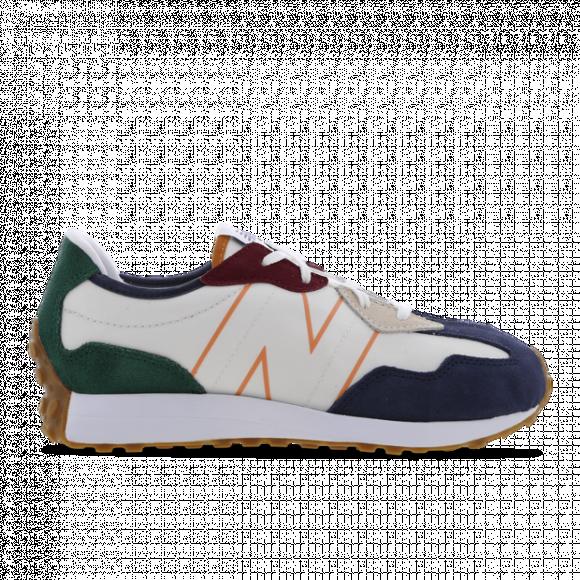 New Balance 327 - Boys' Grade School Running Shoes - White / Indigo / Green - GS327HH1