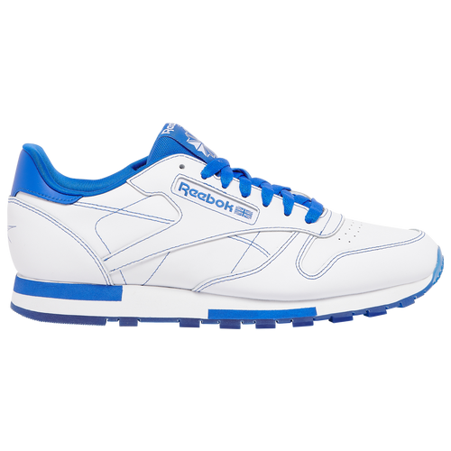 Reebok Classic Leather - Men's Running Shoes - White / Royal - GW0149