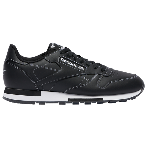 Reebok Classic Leather - Men's Running Shoes - Black / White - GW0151