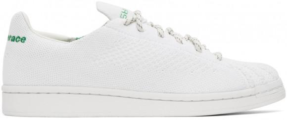 adidas x Pharrell Williams Superstar Primeknit Core White/ Core White/ Vivid Green - GX0194