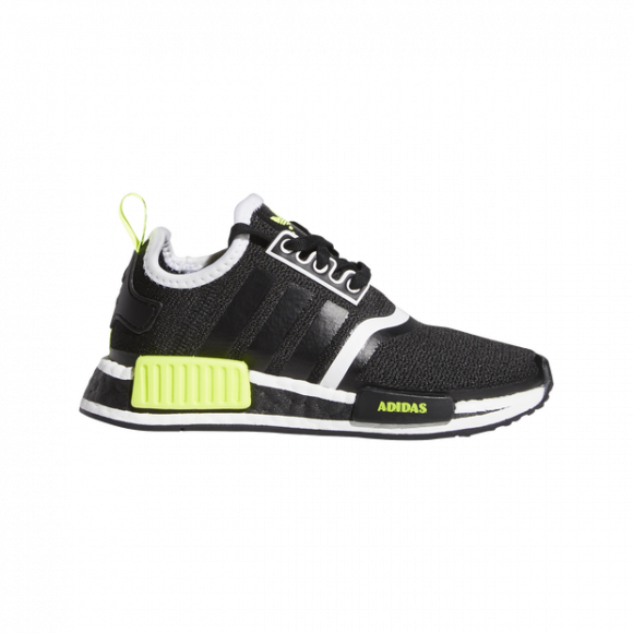 adidas Originals NMD R1 - Boys' Preschool Running Shoes - Black / Yellow / Black