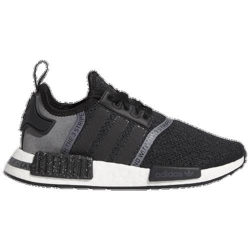 adidas Originals NMD R1 - Boys' Grade School Running Shoes - Black / White