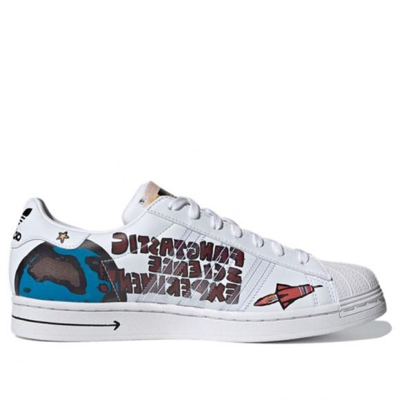 Adidas Kasing Lung x Disney x Superstar 'Labubu Mickey Mouse' Cloud White/Cloud White/Core Black Sneakers/Shoes GZ8839