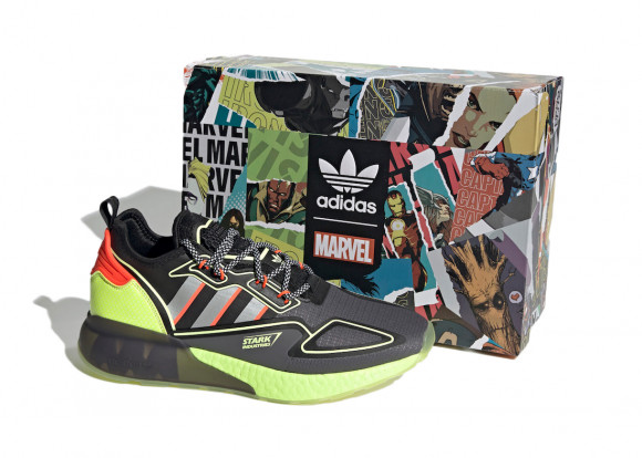 adidas ZX 2K Boost Marvel Shoes Grey Five Mens - H02559