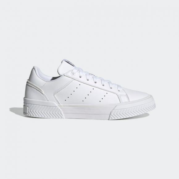 adidas Court Tourino Shoes Cloud White Womens - H05280