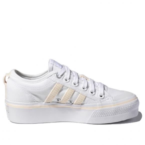 adidas Nizza Platform Shoes Cloud White Womens - H69028