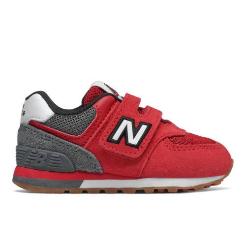 New Balance Enfant 574 Sport Pack - Red/Grey, Red/Grey - IV574ATG