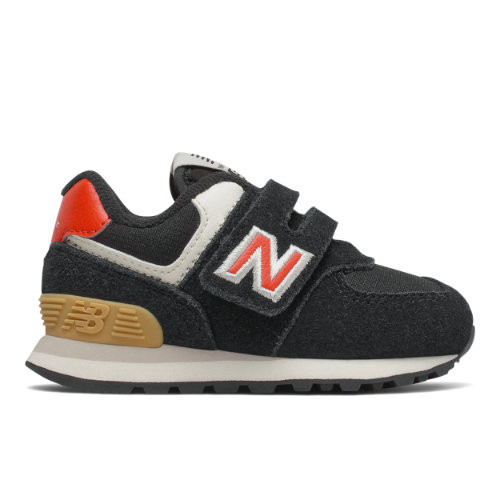 New Balance Enfant Hook and Loop 574 - Red, Red - IV574ML2