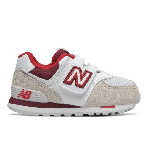 New Balance Enfants 574 Varsity Sport - Grey/Red, Grey/Red - IV574NLA