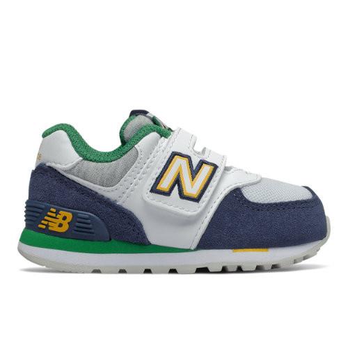 New Balance Enfants 574 Varsity Sport - Navy/Green, Navy/Green ...