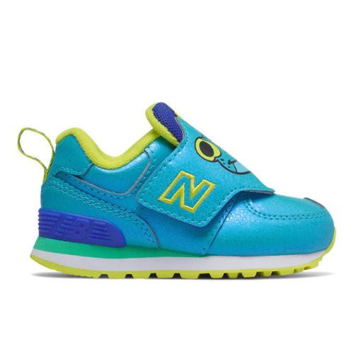New Balance Enfants Hook and Loop 574 - Blue/Yellow, Blue/Yellow ...