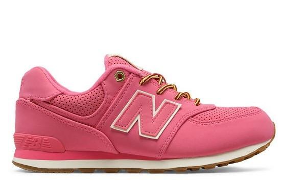New Balance 574 Pink Gum Bottom (GS) - KL574HKG