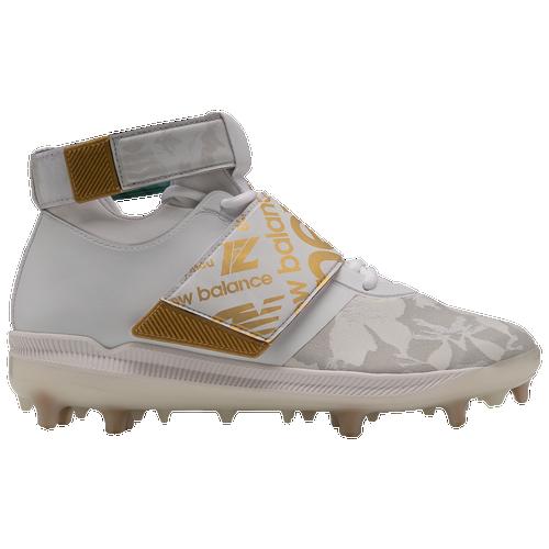 New Balance Lindor Signature - Men's Molded Cleats Shoes - White / Gold - LLINDWT-D