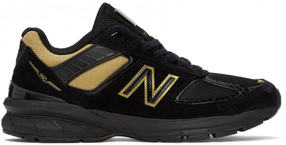 New Balance Black & Gold Made in US 990BH5 Sneakers - M990BH5