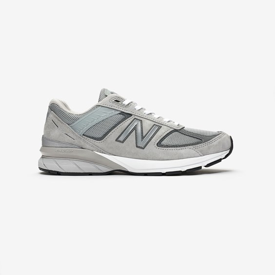 New Balance 990v5 Running Shoes Grey- Mens- Size 12 D - M990GL5-GRY