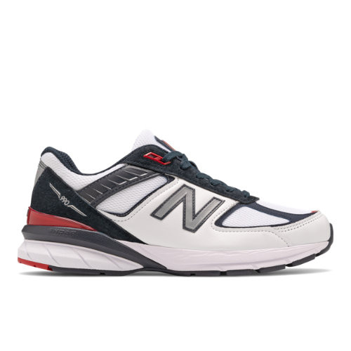 New Balance Mens New Balance 990v5 - Mens Running Shoes Carbon/Team Red/Red Size 9.5 - M990NL5