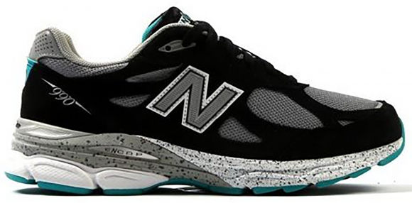 New Balance 990v3 Black Grey Teal - M990OB3
