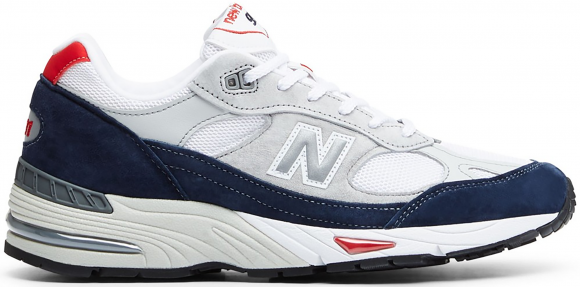New Balance 991 Grey Navy Red - M991GWR