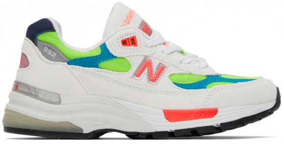 New Balance 992 White Neon Cyan - M992DA