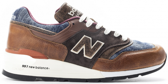 Uomo New Balance Made in US 997 - Brown/Blue, Brown/Blue - M997SOC