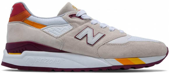 New Balance 998 Coumarin Pack White Burgundy - M998CST