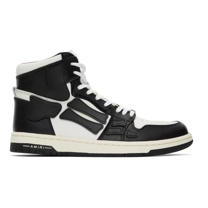 AMIRI Black and White Skel Top Hi Sneakers - MFS002-004