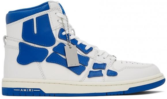 AMIRI White & Blue Skel Top Hi Sneakers - MFS002-123
