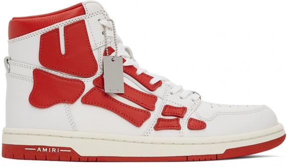 AMIRI White & Red Skel Top Hi Sneakers - MFS002-124
