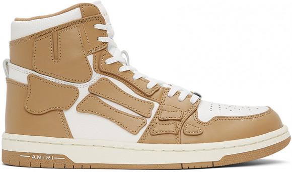 AMIRI Off-White & Tan Skel Top Hi Sneakers - MFS002-281