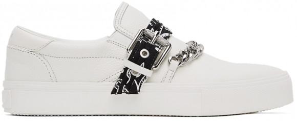 AMIRI White Bandana Chain Slip-On Sneakers - MFS005-100
