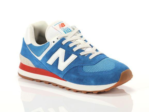 New Balance Mens New Balance 574 Classic - Mens Running Shoes Natural Indigo/Light Rouge Wave/White Size 12.0 - ML-574-HC2