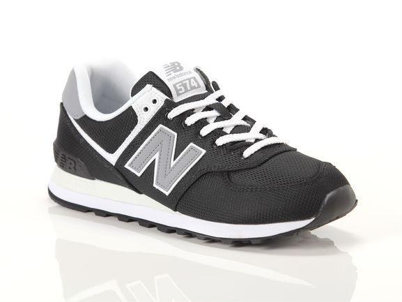 Mens New Balance 574 Athletic Shoe - Black / Grey - ML-574-SCI