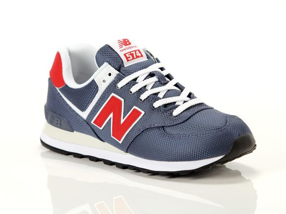 New Balance Mens New Balance 574 - Mens Running Shoes Thunder Grey/Team Red Size 8.5 - ML-574-SCJ