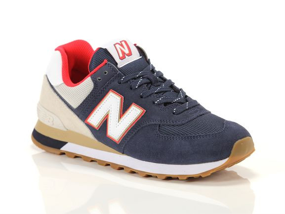 New Balance 574 Sneakers Navy- Mens- Size 9 D - ML-574-SKB