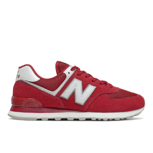 New Balance 574 Classic - Men's Running Shoes - Scarlet / White ...