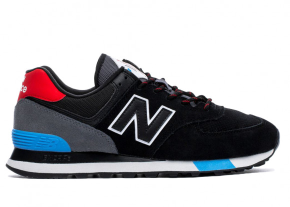 New Balance 574 Black Velocity Red - ML574JHO