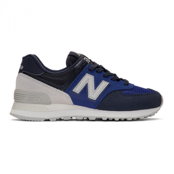 New Balance Blue and Navy 574 Core Sneakers - ML574JHS