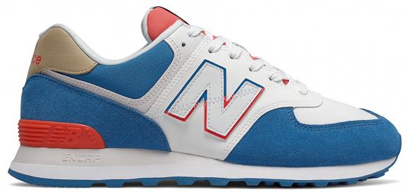New Balance 574 White Blue Red - ML574SCF