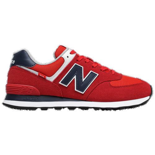 New Balance 574 - Men's Running Shoes - Red / Navy / White ...