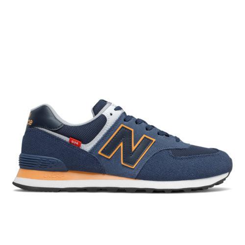 New Balance 574 'Natural Indigo' Natural Indigo/Habanero Marathon Running Shoes/Sneakers ML574SY2