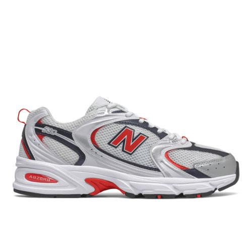 Uomo New Balance 530 - Nb White/Velocity Red, Nb White/Velocity ...