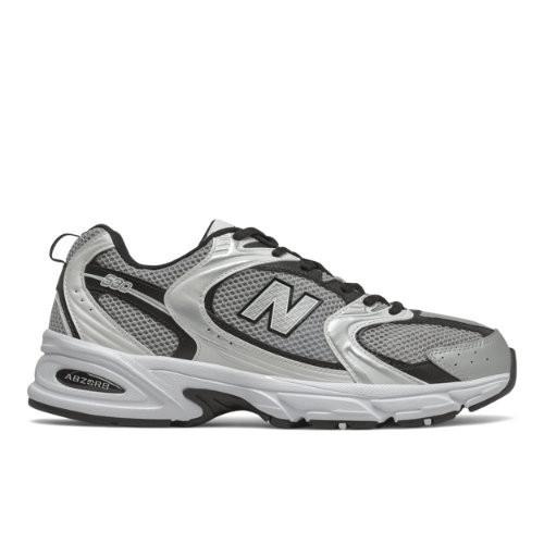 Homme New Balance 530 - Silver Mink/Black, Silver Mink/Black ...