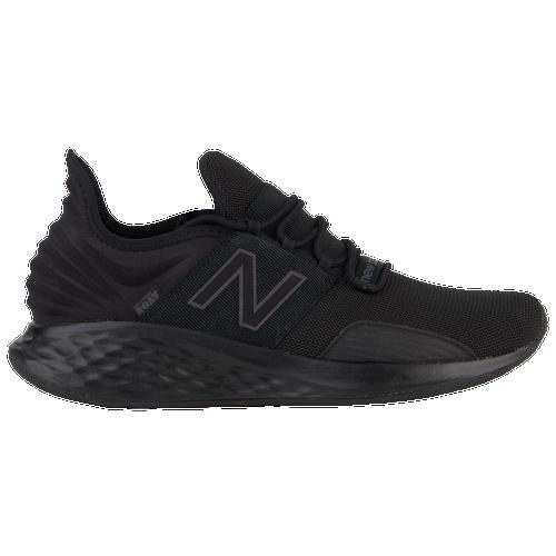 New Balance Fresh Foam Roav - Men's Running Shoes - Magnet / Black - MROAVLB-2E