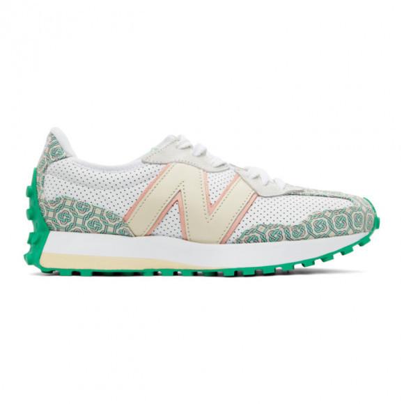 New Balance Casablanca x 327 White/Green Marathon Running Shoes/Sneakers MS327CAB - MS327CAB