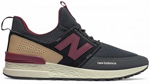 New Balance 574 Sport Decon Black Burgundy - MS574DTY
