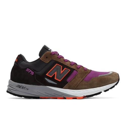 New Balance Made in UK 575 Shoes - Black/Khaki/Pink (Size UK 10) - MTL575KP