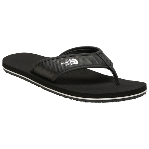 The North Face Base Camp Flip Flop - Boys' Grade School Outdoor Boots - Black / White - NF00CJ8SKY4